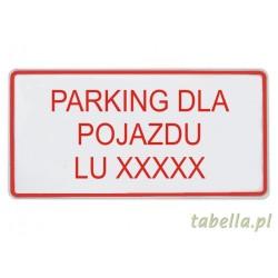 Parking dla pojazdu nr...