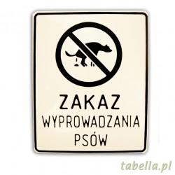 Zakaz wyprowadzania psów...