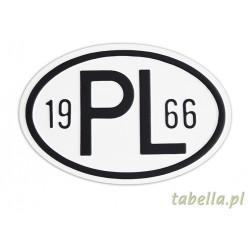 Tablica/znak PL owalny (18...